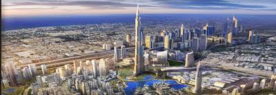 Edificio más alto del mundo Burj Khalifa en Dubai