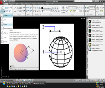 Autocad 3d solids sphere torus l nea de comando for Programa para disenar cocinas integrales en linea