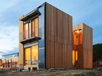 Paneles de madera prefabricados
