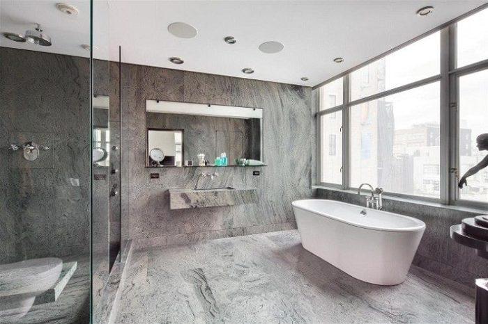 Consejos para la decoraci n de ba os modernos arquitexs for Banos marmol beige