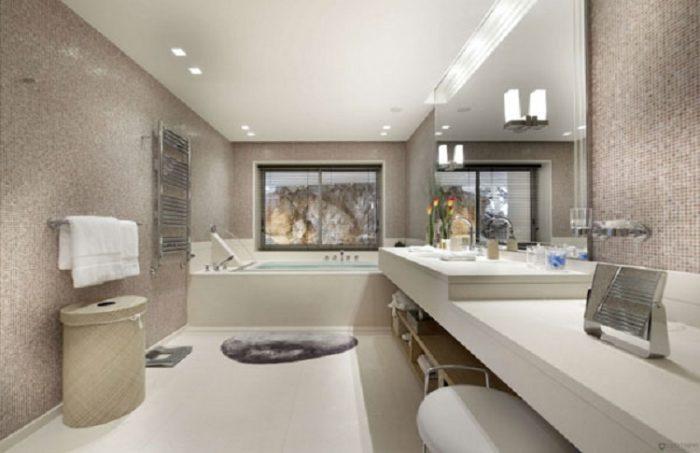 cuarto de bano lujoso marmol - Baos Grandes Modernos