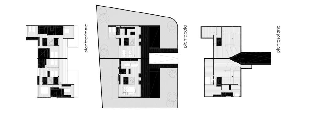 6 casas adosadas con fachada minimalista - Planos de casas pareadas ...