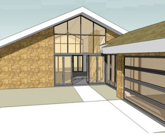 Planos 3d vivienda de 233 m2 y 3 habitaciones arquitexs for Casa moderna de 50 m2