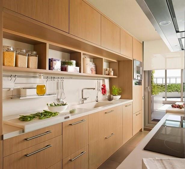 10 consejos b sicos para dise ar cocinas con madera - Vajillas cuadradas modernas ...