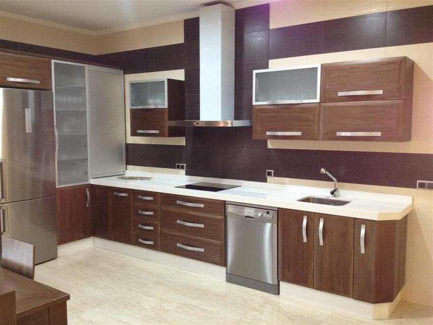 Muebles de cocina madera y vidrio for Muebles cocina madera