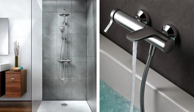 Dise o de ba os con ambiente fresco y renovado arquitexs for Tipos de llaves para duchas