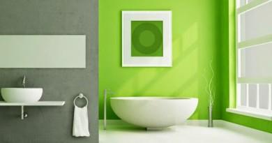 banera-huevo-en-bano-pared-verde
