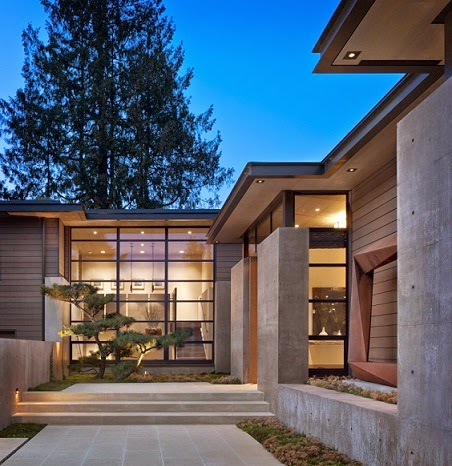 Casa washington park hormig n acero y madera conard romano architects seattle washington - Casas de acero y hormigon precios ...