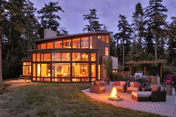 Casa moderna Sunset Point / Arquitecto David Vandervort, Washington