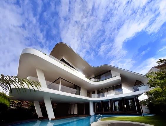 Casa Ninety 7 SIGLAP de fachadas onduladas / Aamer Architects, Singapur