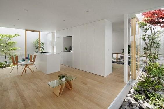 Dise o minimalista green edge house by ma style - Diseno patio interior ...
