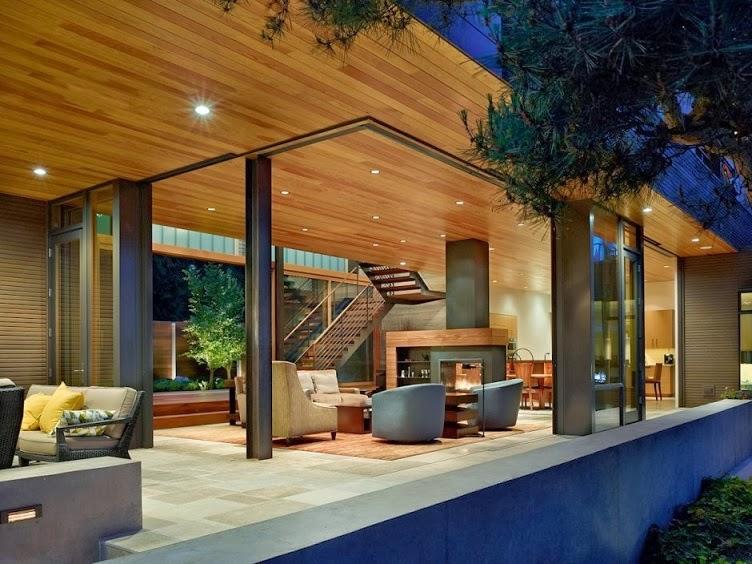fachada-Casa-moderna-Courtyard