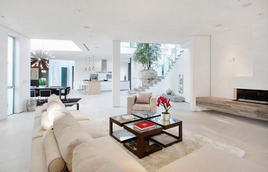 Dise o interior casa mansfield por amit apel design - Salones de diseno minimalista ...