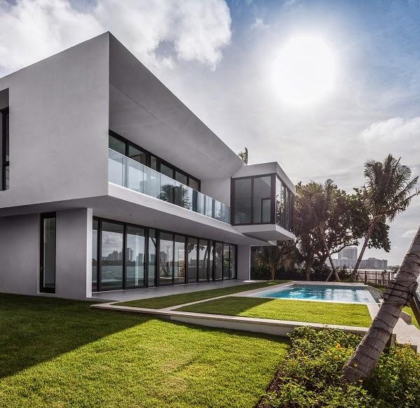 Villa fendi por rglobe miami beach arquitexs for Fachadas de casas en miami florida