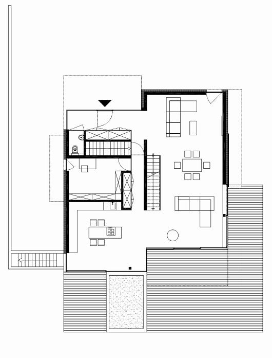 plano planta baja casa moderna