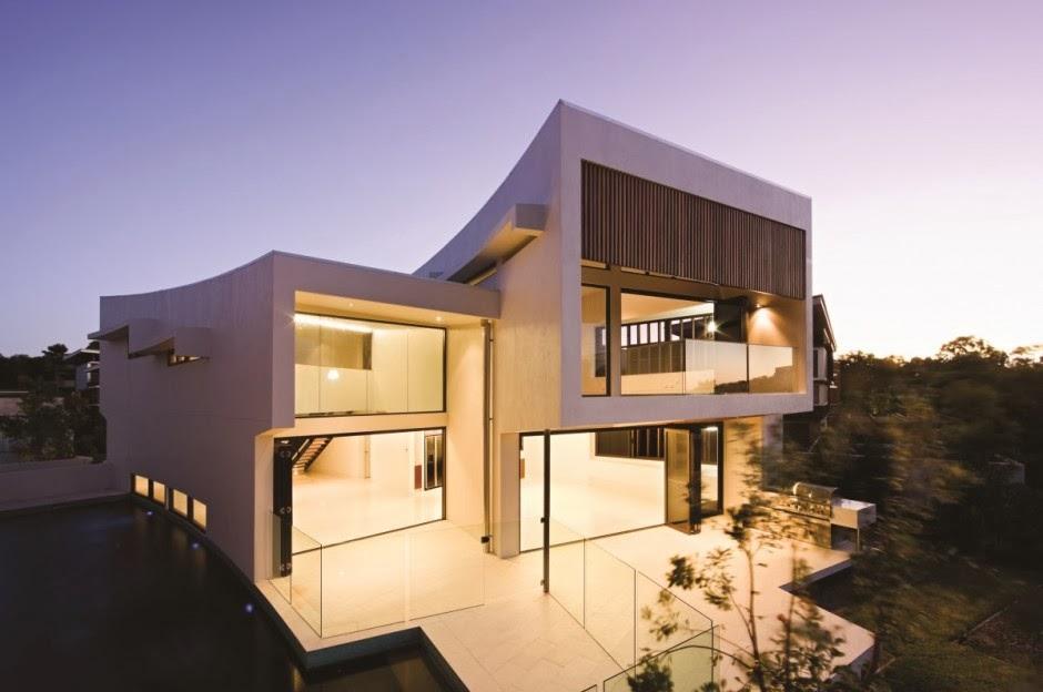 Casa elysium con fachadas modernas bvn architecture - Construccion de casas modernas ...