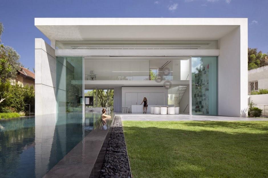 Casa minimalista ramat hasharon pitsou kedem for Casa minimalista cristal