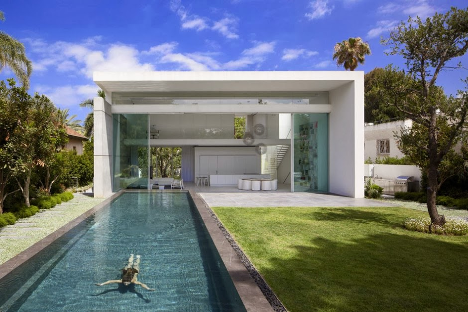 Casa minimalista ramat hasharon pitsou kedem for Estilo de casa minimalista