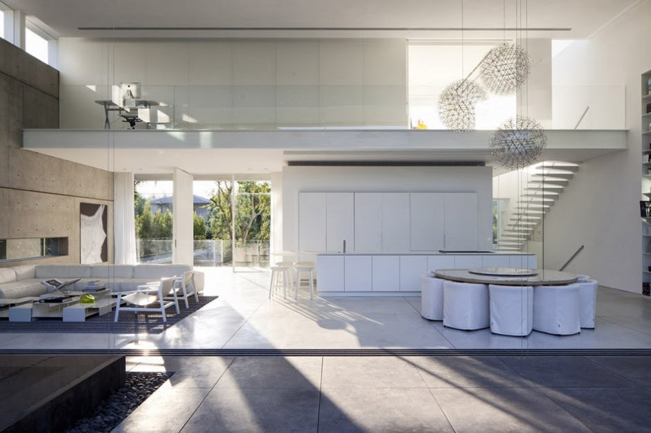 Casa minimalista ramat hasharon pitsou kedem - Casa minimalista interior ...