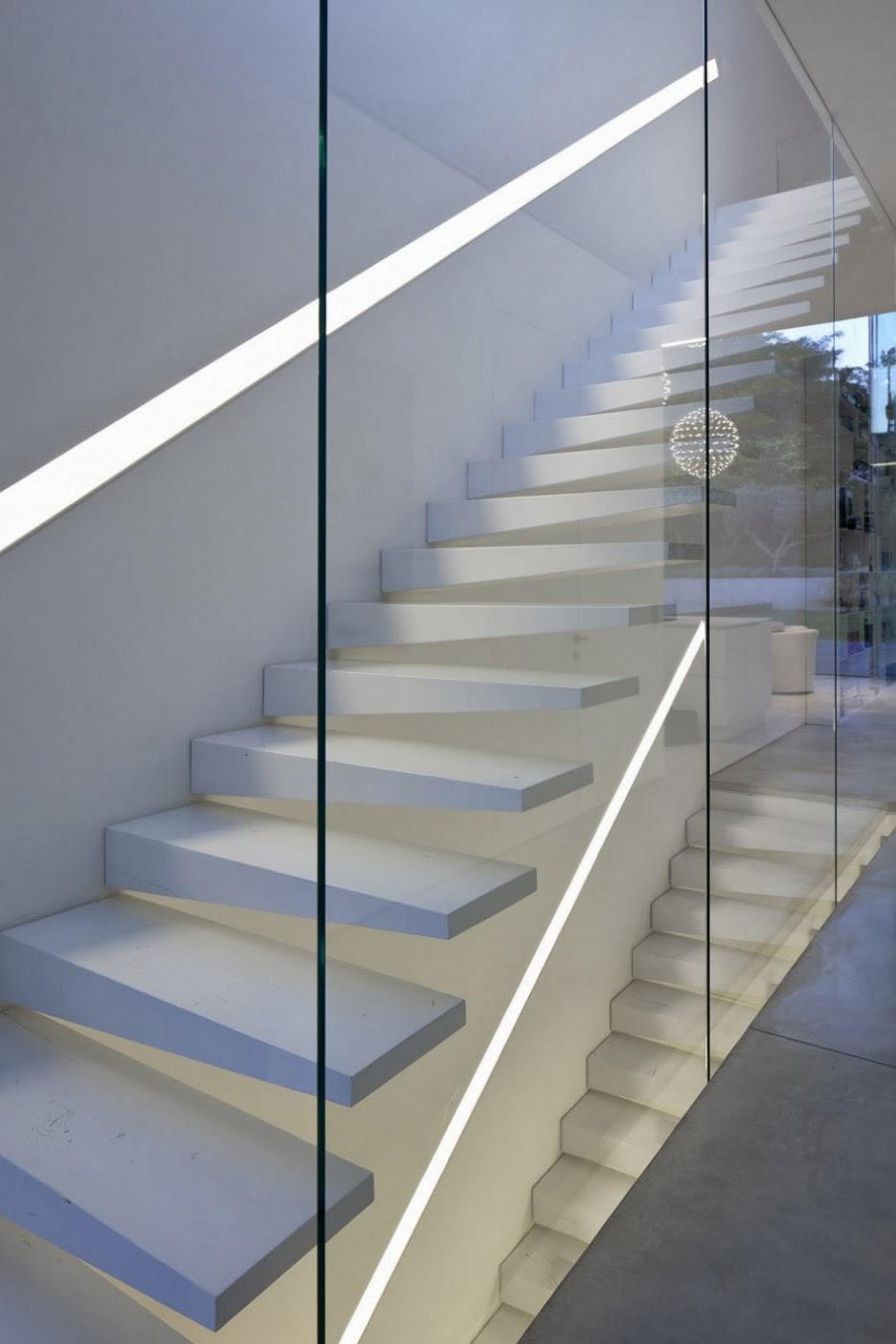Diseno Escaleras Interiores Blancas Arquitexs - Diseo-escaleras-interiores