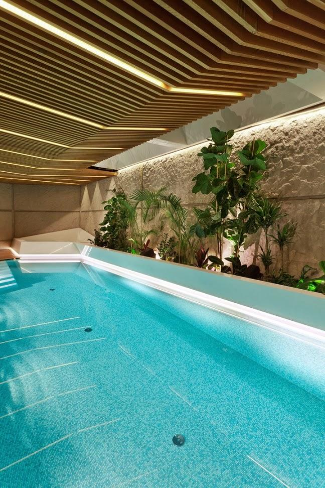 Casa spa con piscina jacuzzi y sauna for Piscina jacuzzi