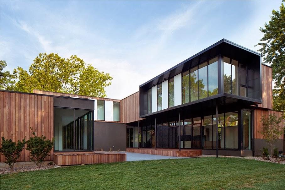 Casa baulinder inspirada en movimiento moderno proyectos for Casas de madera modernas