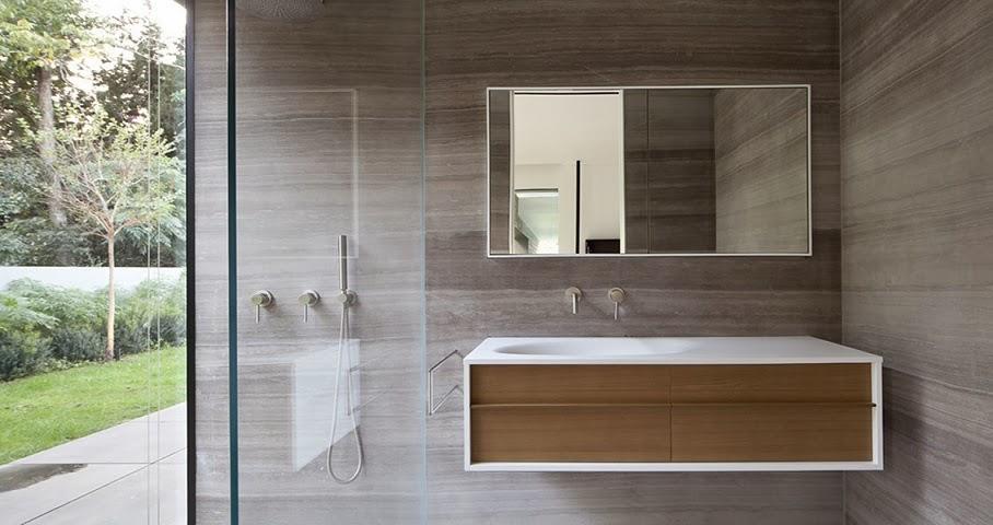 baño-moderno-casa-Float-Pitso-Kedem-Architects