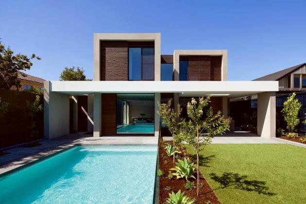Casa brighton espacios amplios modernos inform melbourne arquitexs - Casas modernas con piscina ...