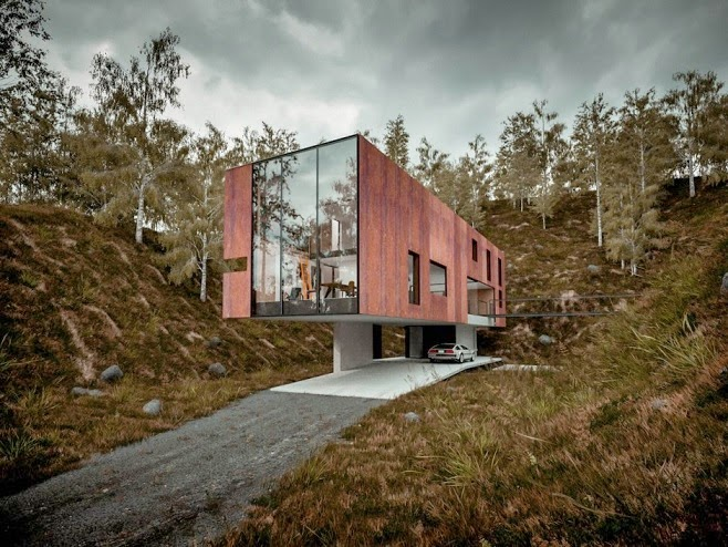 casa-moderna-fachada-corten