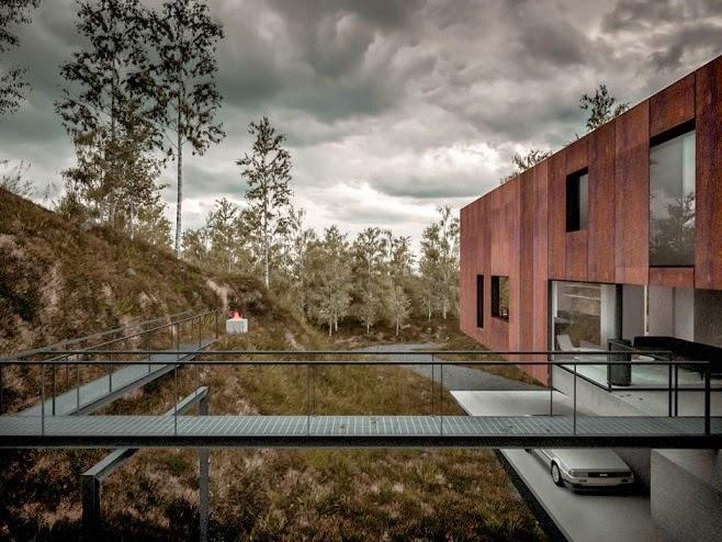 Casa moderna para un fot grafo dise o de hyde hyde for Fachada acero corten
