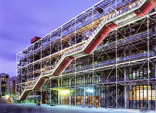 Centro-Georges-Pompidou-Paris-Arquitecto-Renzo-Piano-arquitectos contemporáneos