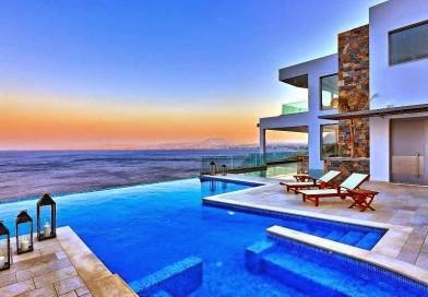 Casa de playa en Isla Creta con vistas al mar Egeo