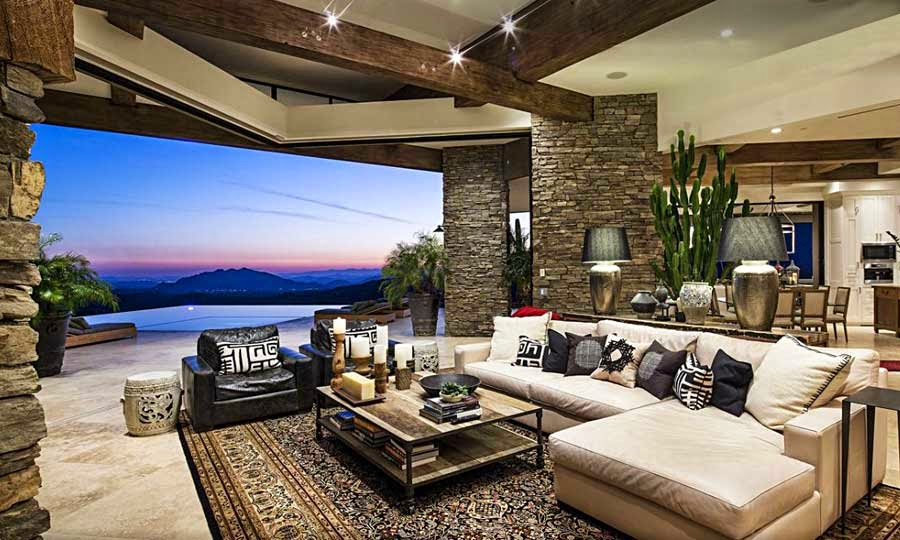 Desert mountain retreat architector scottsdale arizona - Interiores de lujo casa ...