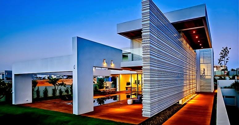Villa c inspirada en feng shui gal marom architects for Casas contemporaneas de lujo