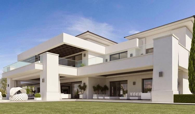 Casa de lujo en sotogrande costa del sol espa a arquitexs for Fachadas de hoteles de lujo