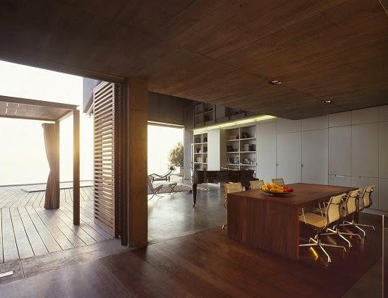 cocina-madera-Casa-en-el-Jardin-del-Sol-tenerife