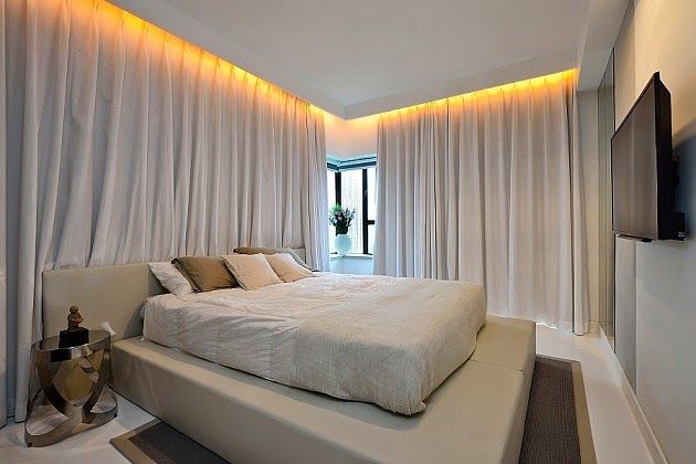 Renovaci n y decoraci n de un departamento moderno en for Iluminacion de interiores led