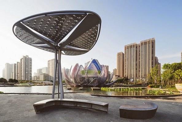 Edificio-Lotus-y-el-parque-Popular-china