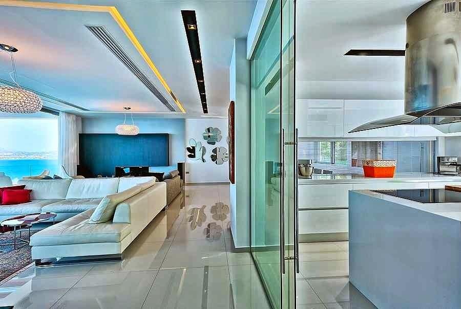 Salones de casas modernas beautiful un saln con cocina for Casa minimalista tenerife