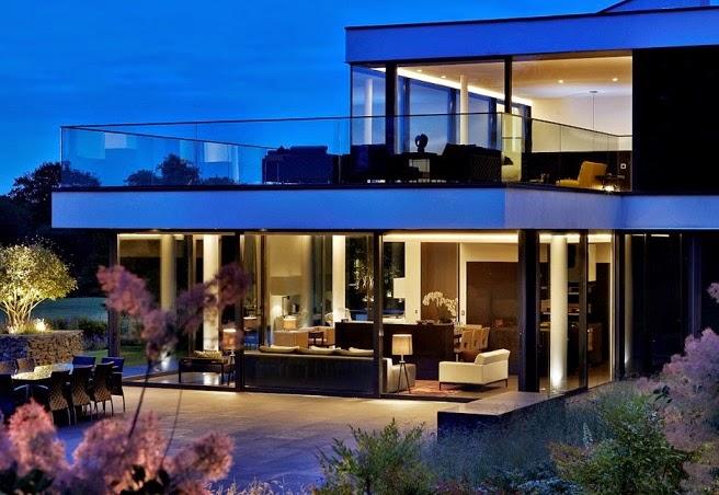 Casa de campo moderna a orillas del r o t mesis arquitexs for Casas modernas para campo