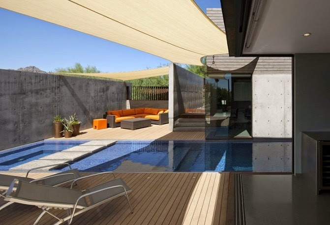Fachada de acero corten chen suchart studio arquitexs for Patios modernos con piscina