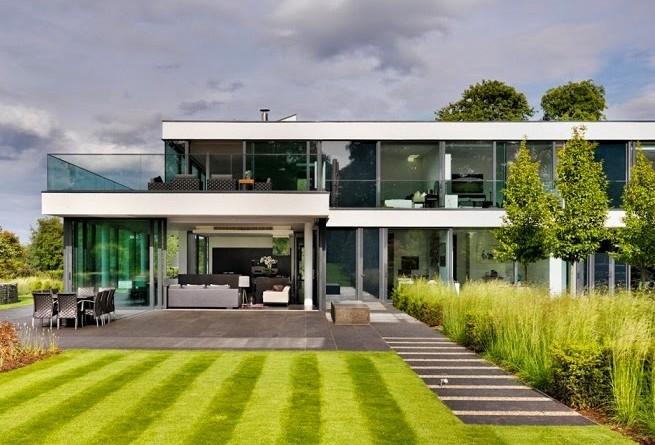 Casa de campo moderna a orillas del r o t mesis arquitexs for Fotos de casas de campo con piscina