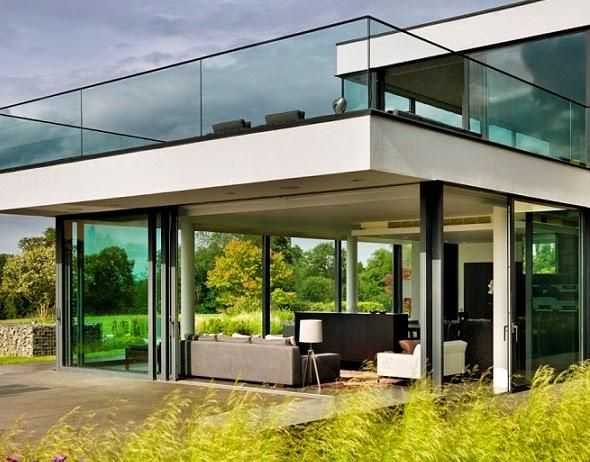 Casa de campo moderna a orillas del r o t mesis arquitexs for Diseno casa moderna una planta
