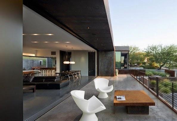 Fachada de acero corten chen suchart studio arquitexs for Terrazas modernas para casas