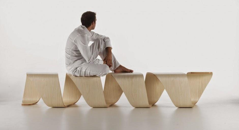 Mueble de dise o inspirado en adn en madera contrachapada - Muebles de madera de diseno ...