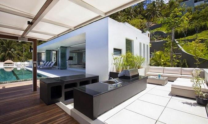 terraza-barbacoa-Villa-de-lujo-koh-Samui