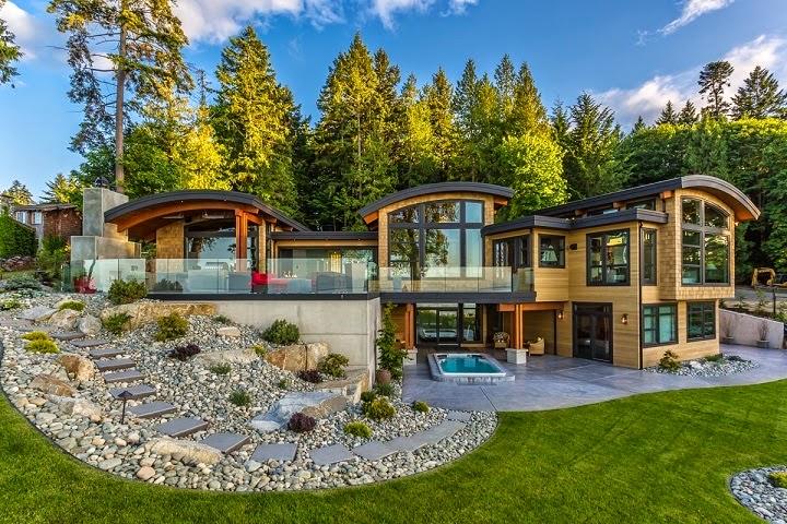 Casa cadence modernas fachadas en madera vancouver - Casas en canada ...