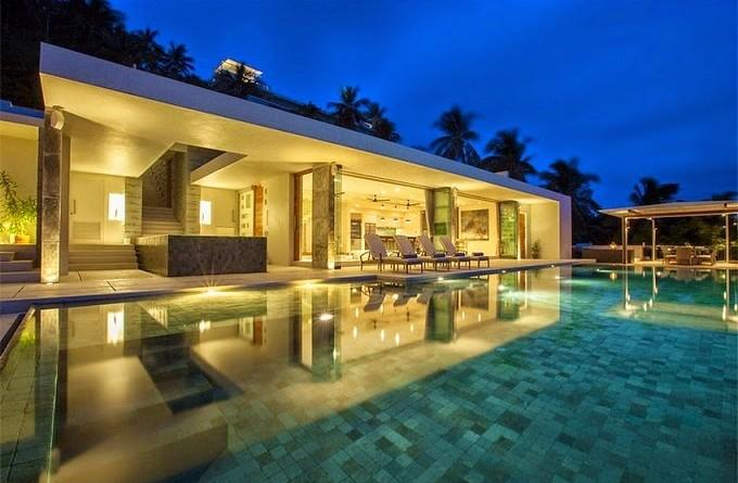 Villa de lujo koh samui gfab arquitectos tailandia for Arquitectura minimalista casas