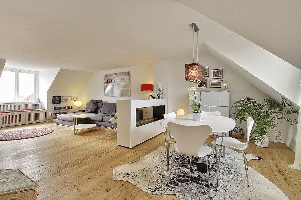 Moderno y luminoso tico decorado al estilo escandinavo for Muebles dinamarca