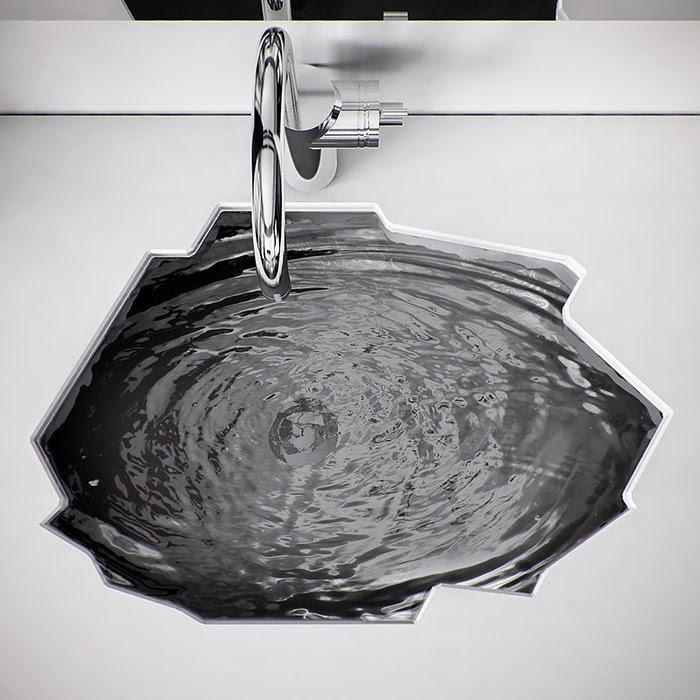 Lavabo en forma de cascada
